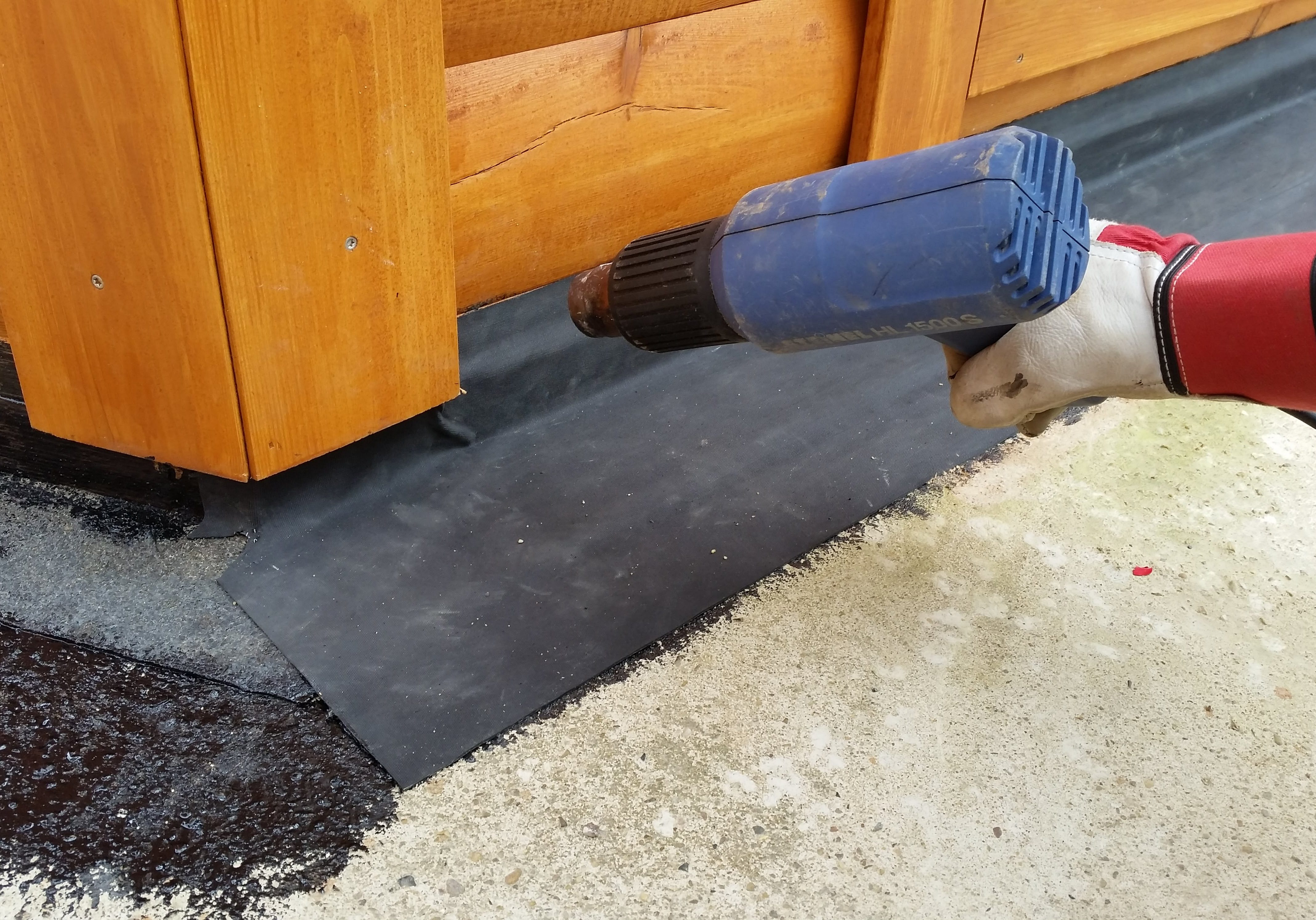 Waterdichte afwerking van de grondbalken.